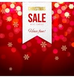 Chrismas sale banner on bokeh background vector image vector image