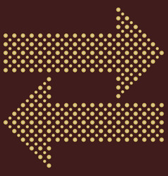 fine dotted arrows vector image