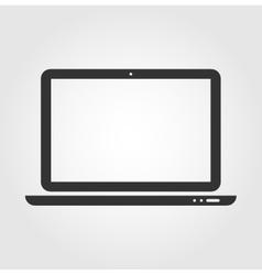 Laptop web icon flat design vector image vector image