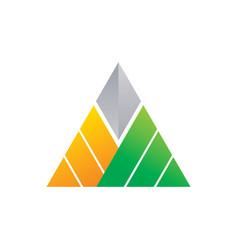 triangle company logo image vector image