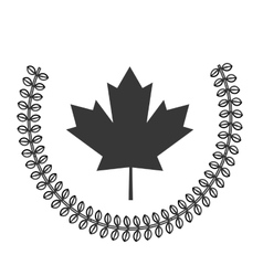 canadian badge icon vector image
