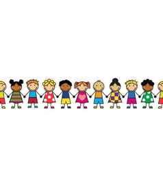 Cartoon seamless series of children vector image