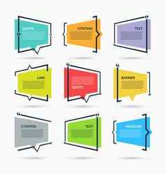 quote speech bubbles set vector image
