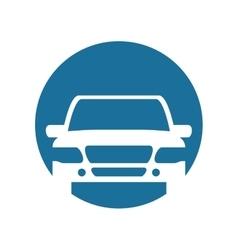 silhouette white car vector image