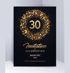 30 years anniversary invitation card template vector