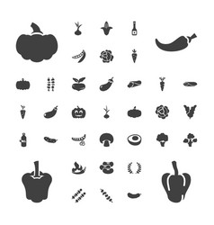 37 vegetable icons vector