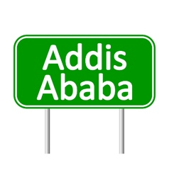 Addis Ababa road sign vector