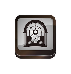 antique radio stereo vector image