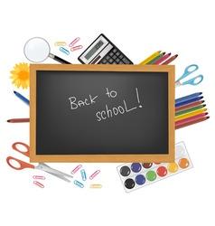 Back to school black desk vector