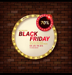 banner for black friday vector image