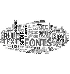 Basic rules on typography text word cloud concept vector