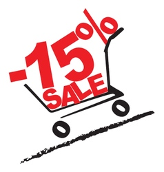 Big sale 15 percentage discount 2 vector image