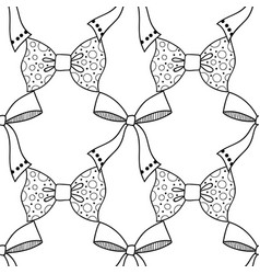 Bows black and white seamless vector