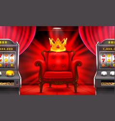 Casino 3d slots machine wins jackpot vector