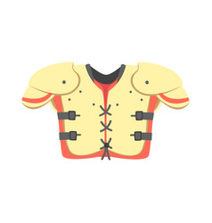 chest and shoulders protective armor pads part of vector image