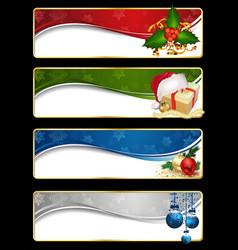 christmas website banner set vector image