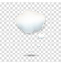 cloud icon isolated white background vector image