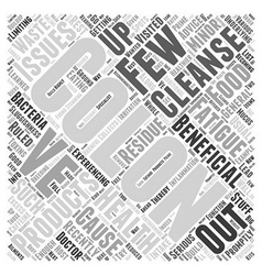 Colon cleanse products Word Cloud Concept vector