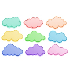 Colorful clouds vector image
