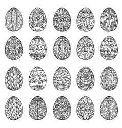 coloring book for adult Easter egg vector image