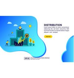 Concept distribution modern conceptual for vector