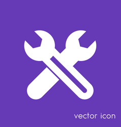 Crossed wrenches icon service pictogram vector