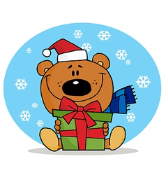 Cute Christmas Teddy vector image