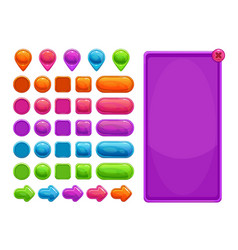 cute colorful abstract assets for game or web vector image