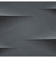 Dark grey crumpled paper cut background vector