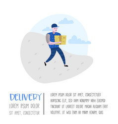 delivery service cargo industry courier character vector image