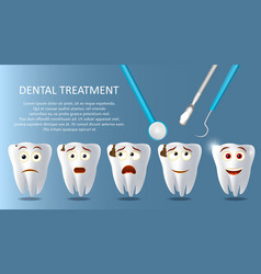 Dental treatment concept poster banner vector