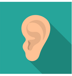 ear icon in flat style isolated on white vector image