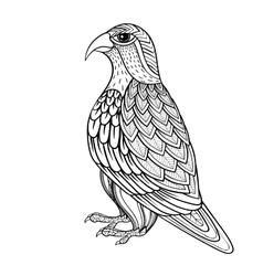 Entangle falcon bird hawk prey vector