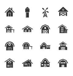 farm building icon set vector image
