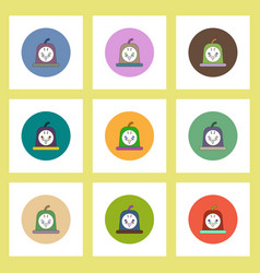 Flat icons halloween of bloody jelly concept vector