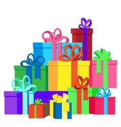 Flat isolated with gift boxes vector