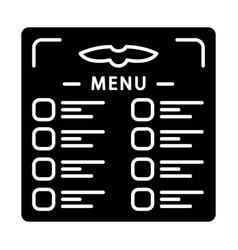 Flight menu glyph icon vector