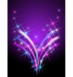 glowing background with stars vector image