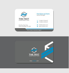 Gray sleek business card vector