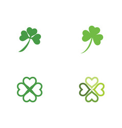 green clover leaf logo template vector image
