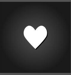 heart icon icon flat vector image