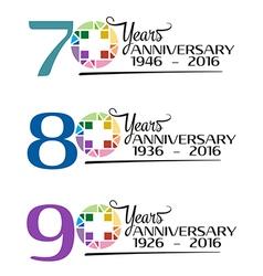 Hospital anniversary colorful symbol vector