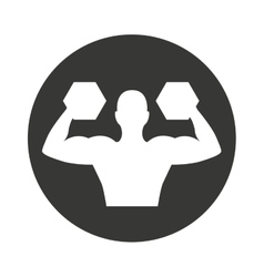 human silhouette strong weight lifting vector image