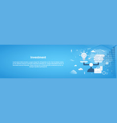 investment money business horizontal web banner vector image