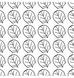 Line nice organic leaf plant background vector