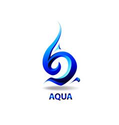 logo element aqua drop vector image
