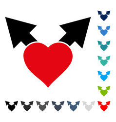 love variant arrows icon vector image