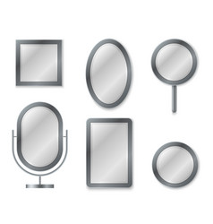 mirror set mirroring reflection surface realistic vector image
