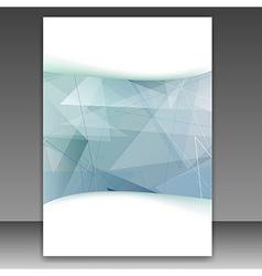 Modern transparent geometrical folder template vector