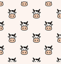 moo seamless pattern vector image